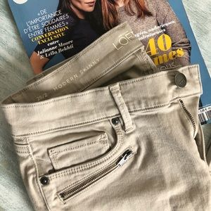 NWOT LOFT Modern Skinny Khaki Jean with Zipper
